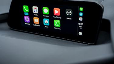 Mazda3 Fastback saloon infotainment display
