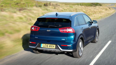 Outside, the Niro is rather plainly styled, but there's no shortage of space inside