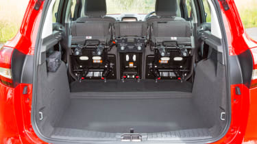 The seats can be folded away to maximise boot space when needed