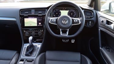 The dashboard is as well designed as any other Golf