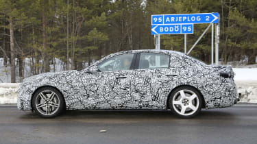 Mercedes-AMG C43 spotted testing - side view