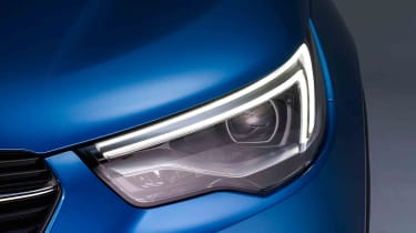 The headlights resemble the latest Insignia Grand Sport's, so expect Vauxhall's Matrix LED lights to be available