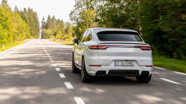 Porsche Cayenne Turbo S E-Hybrid - rear view driving