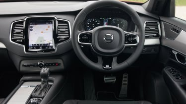 The huge portrait-mounted touchscreen mounted tablet-style in the centre of the dashboard looks fantastic and works really we