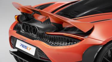 McLaren 765LT rear - spoiler up