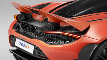 McLaren 765LT rear - spoiler up