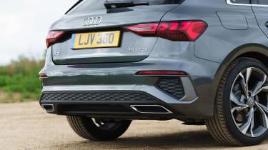Audi A3 Sportback hatchback rear bumper