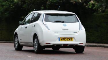 Nissan Leaf - rear 3/4 view