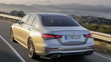 Mercedes E-Class driving - rear view