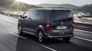 Peugeot e-Traveller driving - rear view