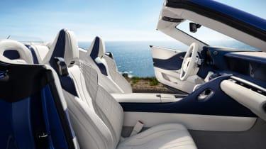 Lexus LC500 Convertible seats - side view