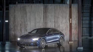 Mercedes-AMG GT 63 left hand static shot – lights on