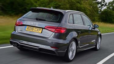 Audi A3 Sportback driving - rear view