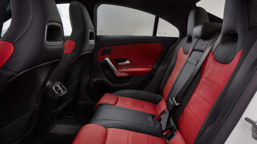 Mercedes CLA saloon rear seats
