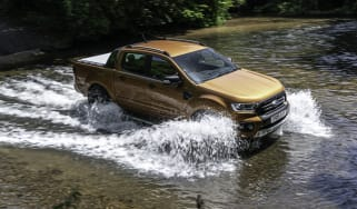 Ford Ranger Wildtrak crossing a river
