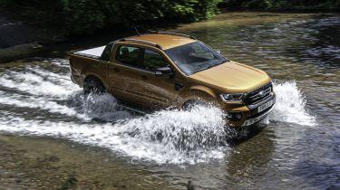 Ford Ranger Wildtrak crossing a river