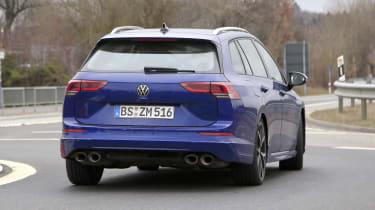 2021 Volkswagen Golf R estate prototype - rear