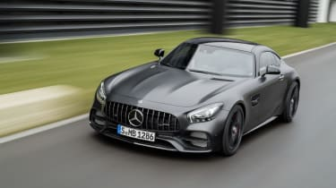 0-62mph takes just 3.7 seconds and the GT C's top speed is 196mph