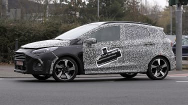 2021 Ford Fiesta in camouflage