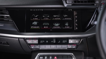 Audi A3 Sportback hatchback infotainment display