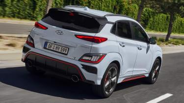 Hyundai Kona N driving - rear view