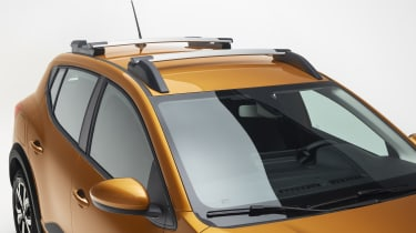 New Dacia Sandero Stepway roof - roof bars across