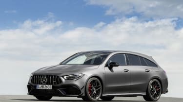 2019 Mercedes-AMG CLA 45 S Shooting Brake - front 3/4 view