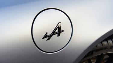 Alpine A110S badge on fuel cap