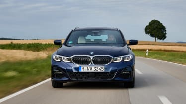 BMW 3 Series Touring estate front driving