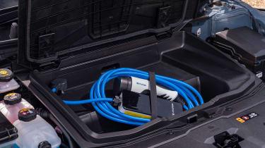 Hyundai Ioniq 5 drive - charging cable storage