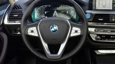 BMW iX3 SUV steering wheel