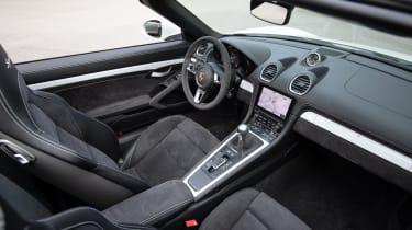 Porsche 718 Boxster Spyder interior