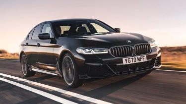 BMW 5 Series driving