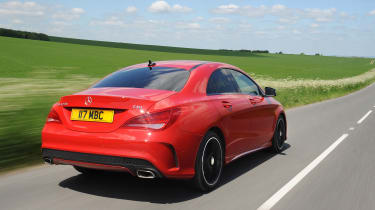 The CLA's direct rivals include the Audi A3 Saloon and Volkswagen CC
