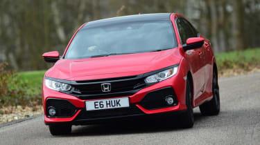 Honda Civic hatchback front driving