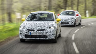 Vauxhall Corsa prototype - front driving