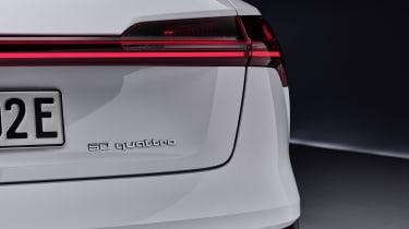 Audi e-tron 50 quattro badge and tail-light