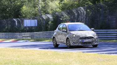 New Toyota Yaris spotted