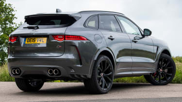 Jaguar F-Pace SUV rear 3/4 static