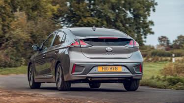 Hyundai Ioniq Hybrid review rear 3/4 cornering