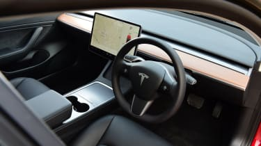 Tesla Model 3 saloon steering wheel