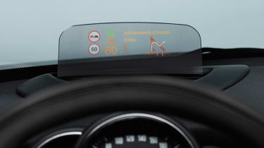 MINI hatchback 2014 head-up display