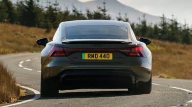 Audi RS e-tron GT saloon rear cornering