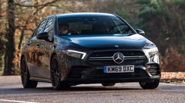 Mercedes-AMG A 35 Saloon front 3/4 cornering