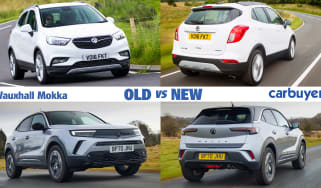 Vauxhall Mokka old vs new header
