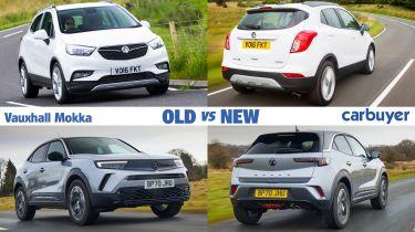 Vauxhall Mokka old vs new header