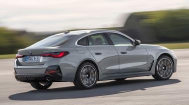 New BMW 4 Series Gran Coupe - rear 3/4 dynamic