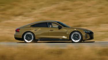 Audi RS e-tron GT saloon side panning