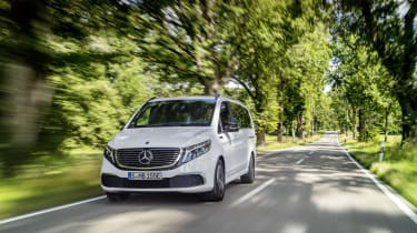 Mercedes EQV - front on dynamic view
