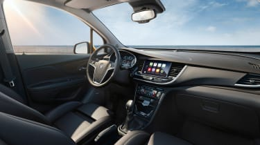 The Mokka X has a dashboard that will be familiar to Vauxhall Astra owners, which is a positive step.